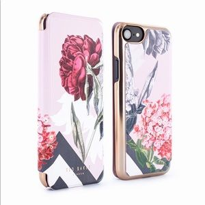 NWT. Ted Baker  Mirror Folio Case (iPhone 6/7/8,